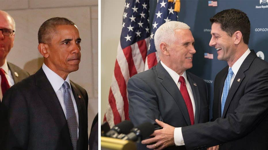 Obama and Pence hit Capitol Hill amid health care fight