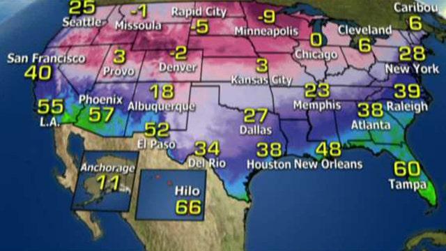National forecast for Friday, January 6