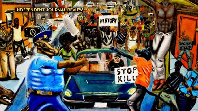 GOP congressman takes down 'art' depicting police as pigs