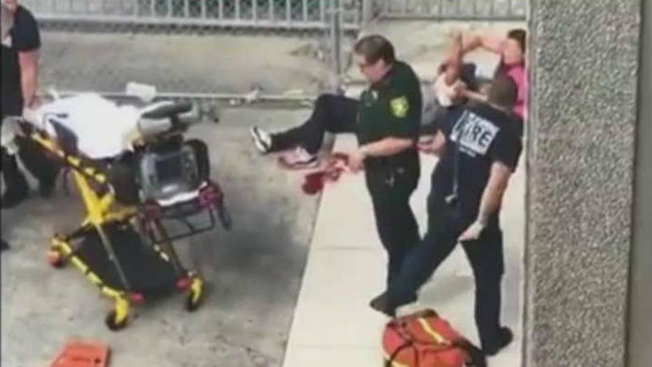 Warning, graphic video: Aftermath of Fla. airport shooting