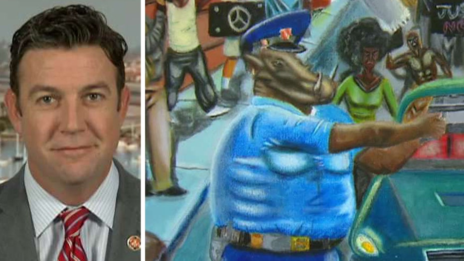 Rep. Hunter talks taking down controversial painting of cops