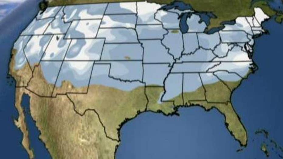 National forecast for Monday, January 9