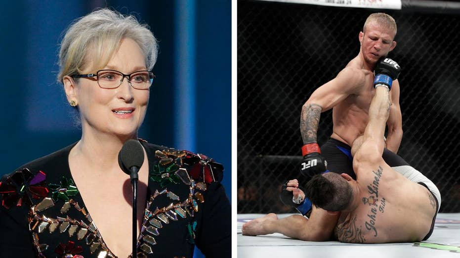 Meryl Streep also disses NFL, MMA in Trump speech