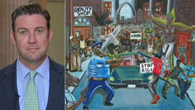 Rep. Hunter pulls down controversial painting of cops