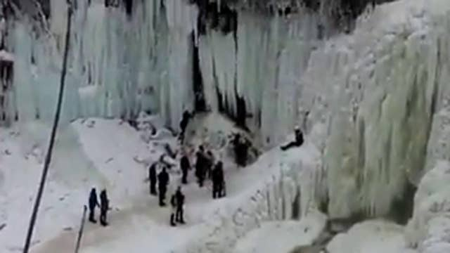 'Oh lord! Better call 911' Huge ice chuck falls on tourist