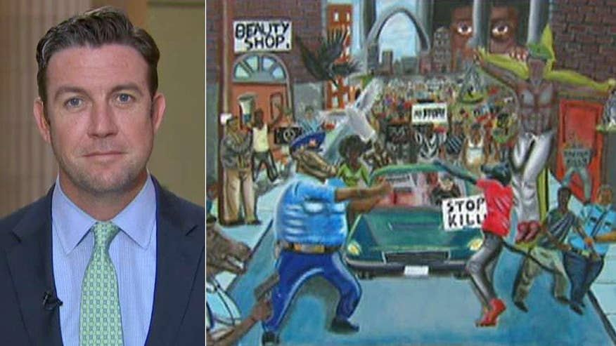 The congressman took down the painting depicting officers as pigs; reaction on 'Fox & Friends'