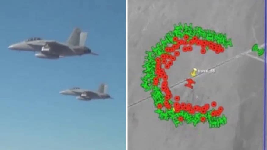 Raw video: Defense Department shares footage of Perdix micro-UAV swarm demonstration