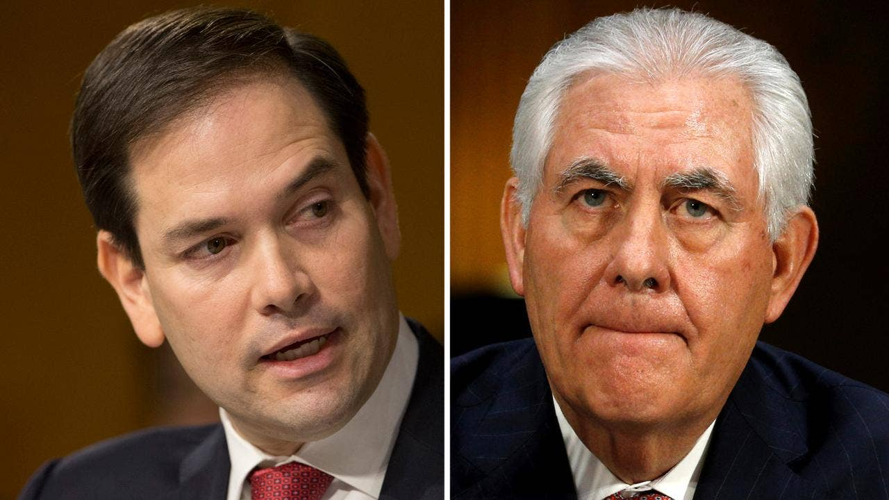 Rubio backs Tillerson, clearing way for likely confirmation as secretary of state
