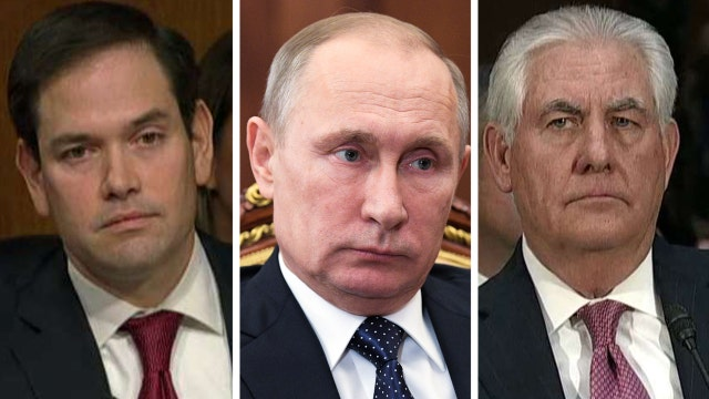 Rubio grills Tillerson on if Putin is a war criminal