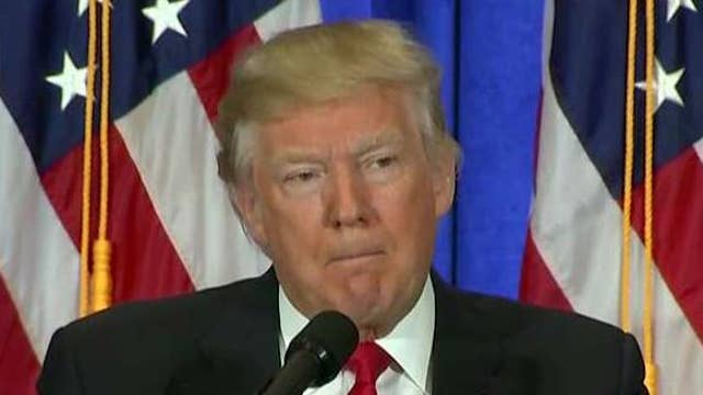 Trump: 'Blot' on intel agencies if they leaked Russia report
