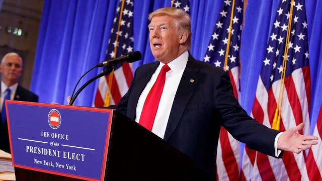 Donald Trump holds first news conference since election