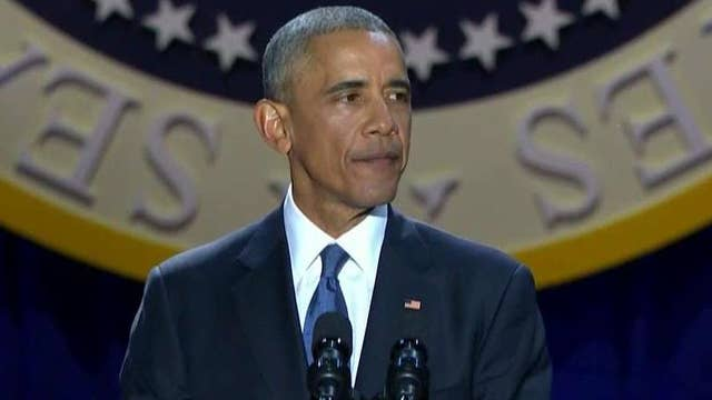 Obama defends his presidency in his farewell speech