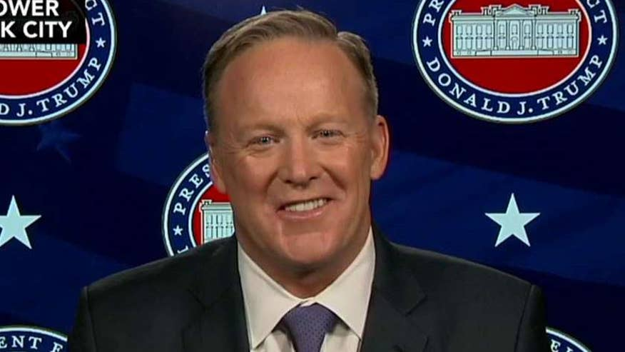 Sean Spicer on the fireworks between President-elect Trump and CNN reporter, his response to unsubstantiated reports of damaging ties with Russia and more