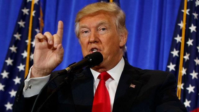 Trump slams 'fake news' during press conference