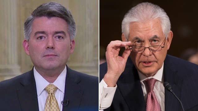 Sen. Cory Gardner reacts to Tillerson's confirmation hearing