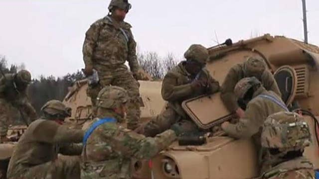 US deploys US troops on tanks to Poland