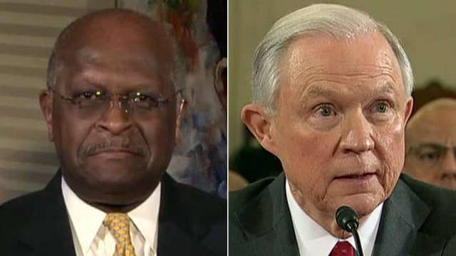 Herman Cain blasts 'pure political theater' against Sessions