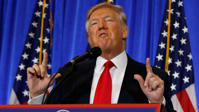 President-elect Trump hits media for 'fake news'