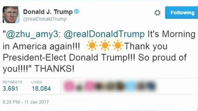 Trump supporter gets Twitter response from president-elect