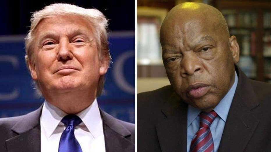 Trump fires back at Rep. Lewis after legitimacy criticisms