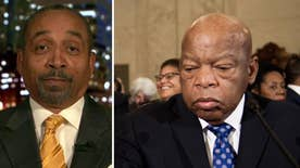 One former Black Panther takes issue with legendary civil rights activist Rep. John Lewis calling Trump an illegitimate president, saying Democrats are the party of the Klan and Lewis is an 'illegitimate congressman' #Tucker