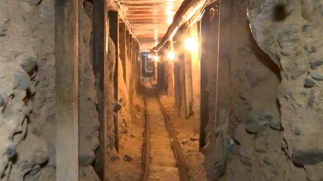 Unfilled border tunnels posing a security risk