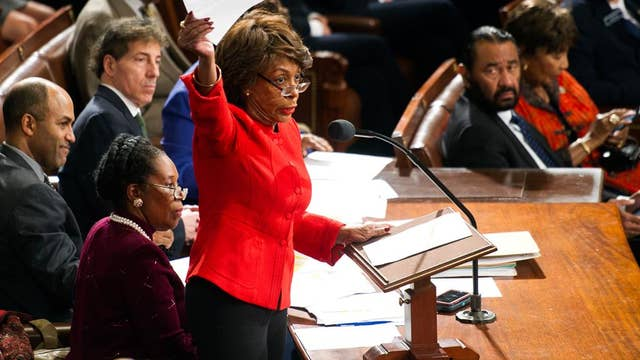 Rep. Waters floats Trump impeachment as Dems vow boycott