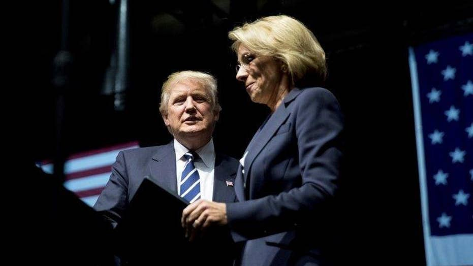 Trump's education secretary pick is a target for the left