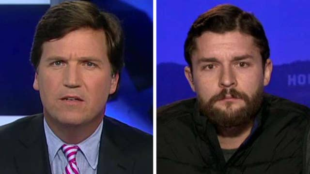 Tucker vs. suspected pay-for-protest group