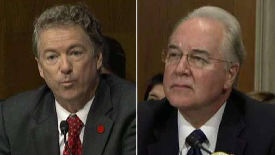 Rand Paul questions Tom Price on ObamaCare replacement plans