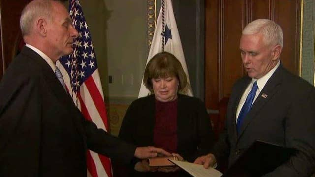 Pence Swears in Mad Dog and Gen. John Kelly as Homeland Security Secretary