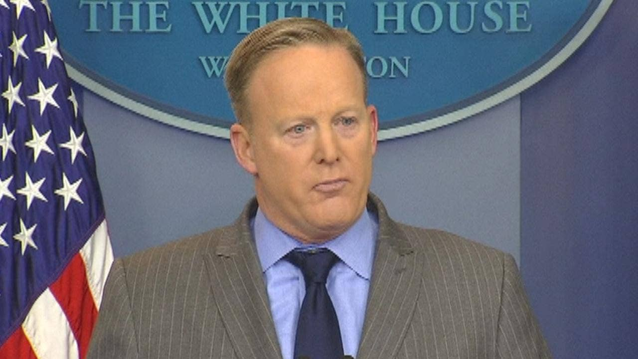 Spicer accuses media of 'false reporting' in fiery briefing