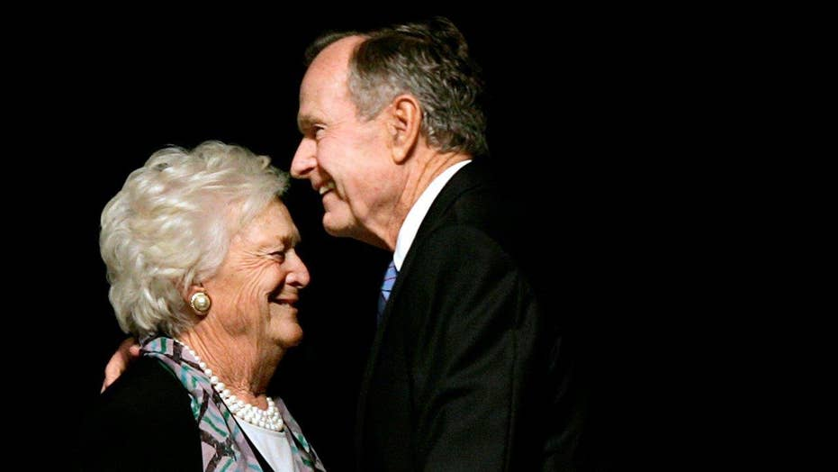 President George HW Bush recovering from pneumonia