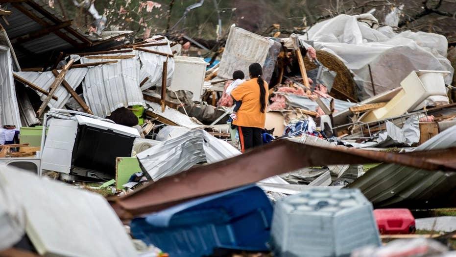 Over a dozen dead after severe storms slam Southeast