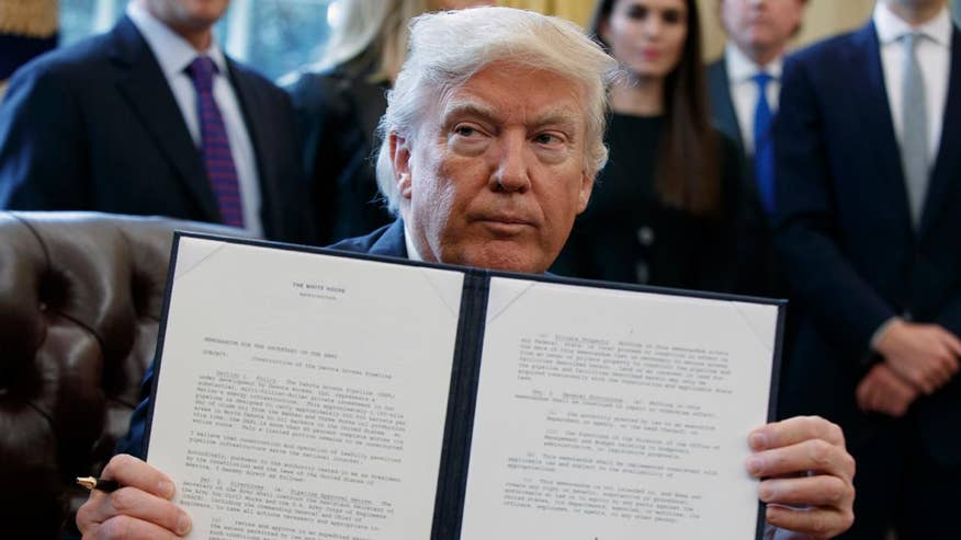 President revives the controversial Keystone XL and Dakota Access pipelines