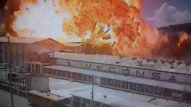 Raw video: Dramatic blast at factory in Ecuador caught on CCTV