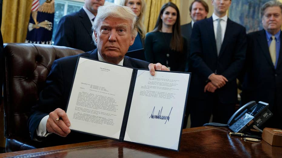 Trump signs executive orders to boost energy production