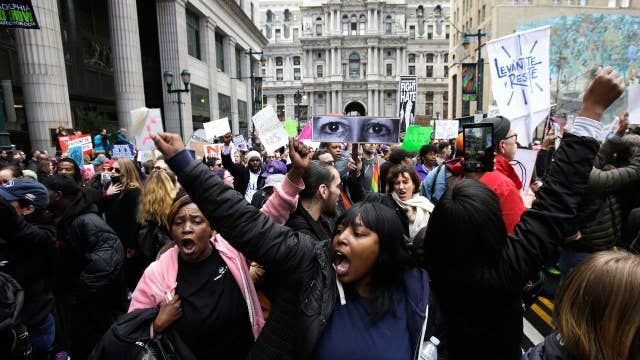 Thousands of anti-Trump protesters gather in Philadelphia