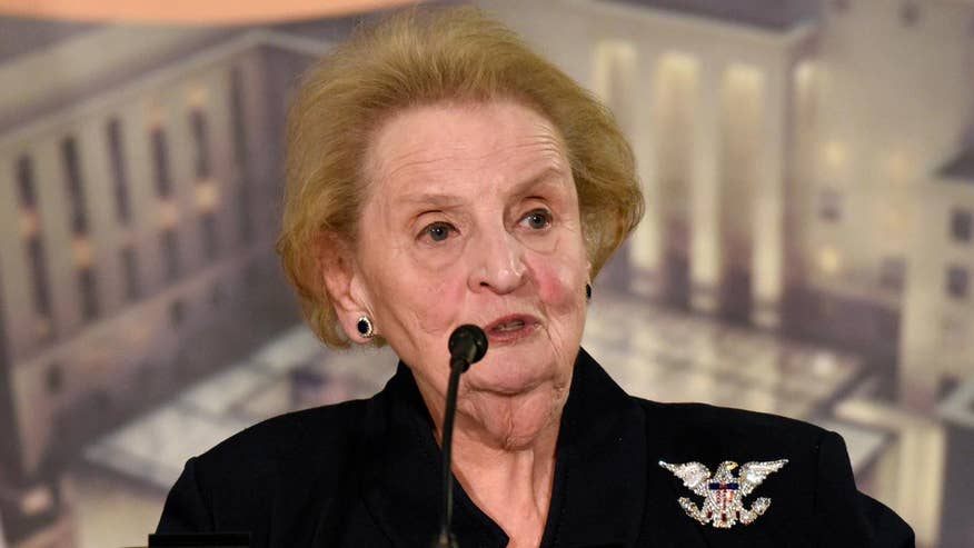Image result for Madeleine Albright 'ready to register as Muslim' over refugee suspension