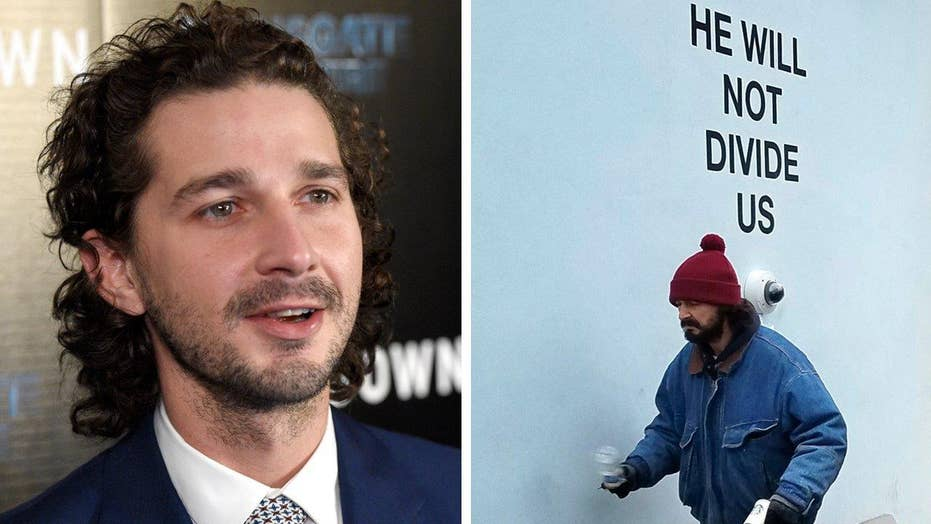 Shia LaBeouf arrested outside anti-Trump display