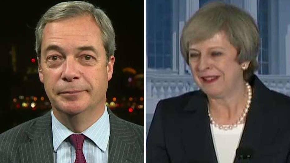 Nigel Farage praises Prime Minister May's speech