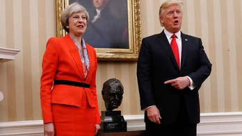 President Trump meets with PM Theresa May in the White House