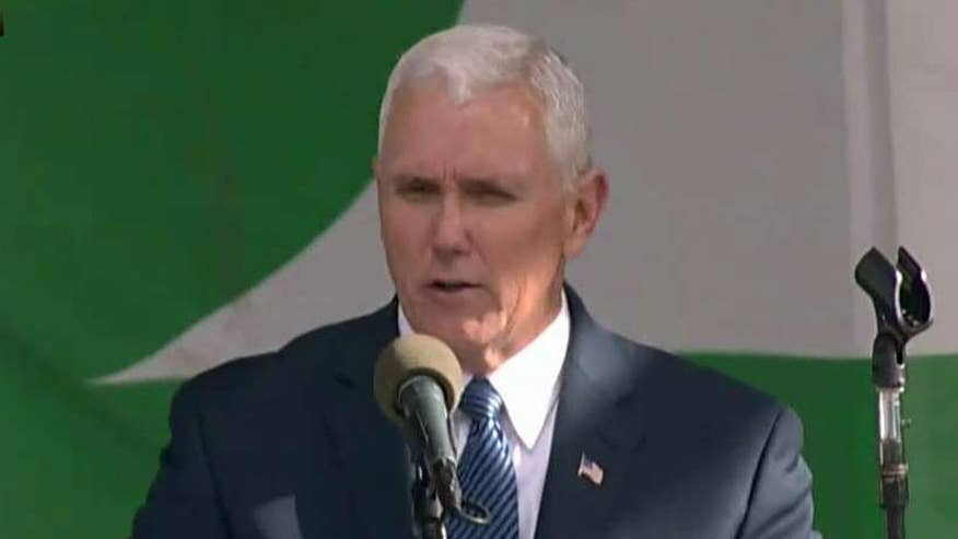 The vice president addresses the annual March for Life rally
