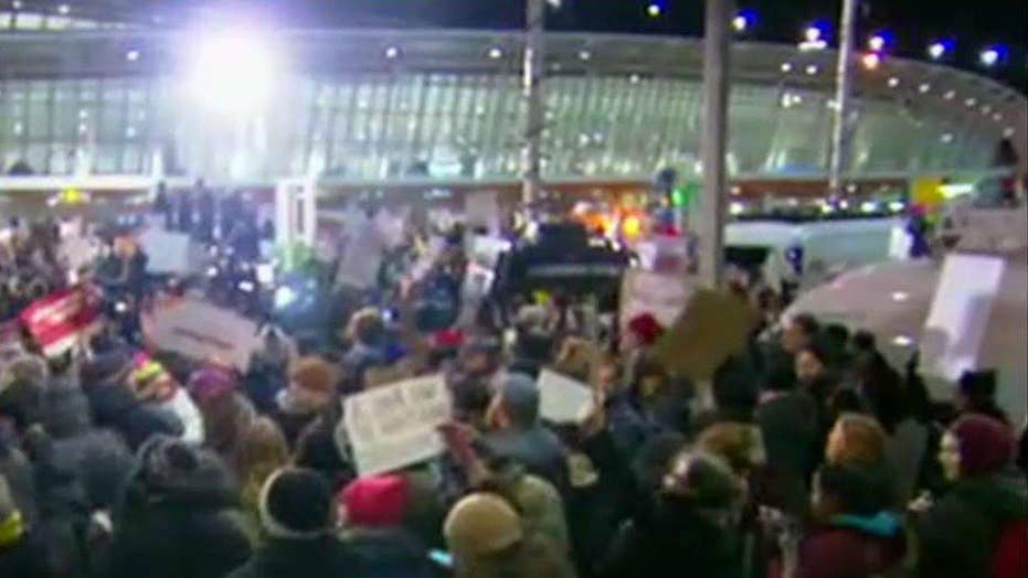 Protests continue to grow outside of JFK airport