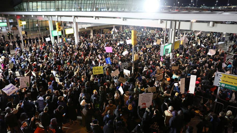 Protests erupt nationwide opposing Trump's travel ban