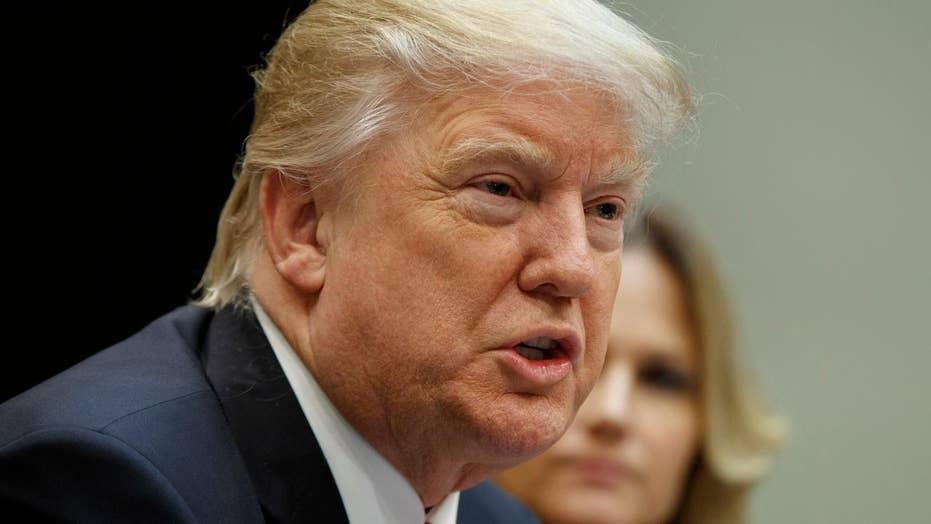 Trump blasts Democrats, previews Supreme Court pick