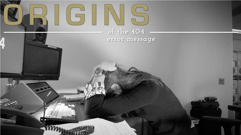Where did the 404 error message originate?