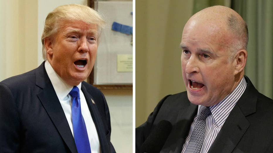 War of words: California Governor Brown takes on Trump