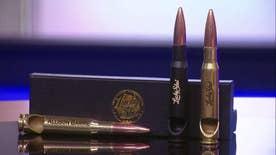Tech Take: Defense Specialist Allison Barrie showcases the Lucky Shot Bullet Bottle Openers, Pelican 55QT Wheeled Cooler, Yeti Ramblers, Camelbak Hydropak and the Battle Mug