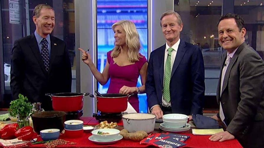 Fox News chief political correspondent prepares New England clam chowder and patriot chili
